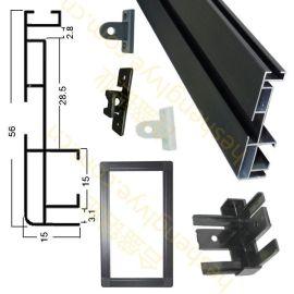 供应合盛FQ-5515LED 显示屏车载屏专用铝外壳边框