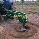 树苗挖坑机,小型拖拉机带动植树挖坑机