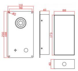 不锈钢点对点直通电话机