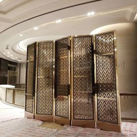 定制酒店公司不锈钢屏风隔断  钛金不锈钢屏风