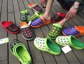 EVA花园鞋 洞洞鞋 凉鞋拖鞋双色花园鞋外贸鞋运动鞋