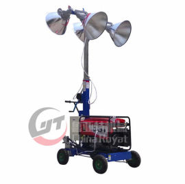 手推式工程移动照明车厂家 升降式大功率移动照明灯