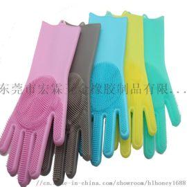 冬季防水防油硅胶手套清洁厨房专用