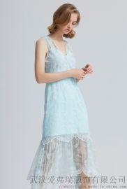 【代销货源】大品牌服装怎么拿货EBASE荷叶边长裙