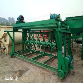 液压升降有机肥翻堆机 秸秆堆肥发酵翻堆机 猪粪翻抛机有机肥生产线