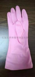粉色手套家用加厚加長打掃衛生防護勞保大棚水產