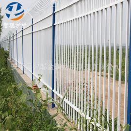 小区围栏学校别墅围墙锌钢护栏穿插式组装铁艺围墙护栏