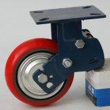 6寸中型減震聚氨酯定向腳輪 中型減震控向輪 定向轉換減震輪批發
