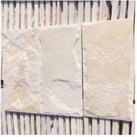 白石英蘑菇石 白色石材外墙砖 带来一种很好的远观视觉效果