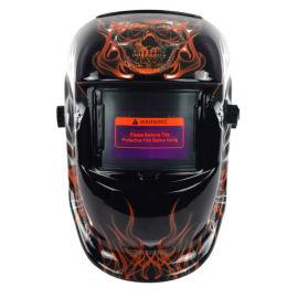 頭戴式電焊面罩焊工防護面罩自動變光焊帽面罩