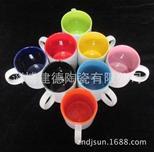 色釉陶瓷杯 色釉马克杯 定制LOGO 热转印各种陶瓷杯