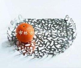 不锈钢果盘批发,异形果盘定做,数字组合创意不锈钢果盘加工