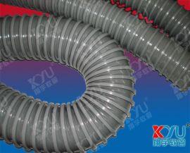 塑料风管,PVC排风管,灰色风琴管