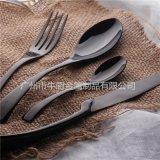 機拋不鏽鋼西食具 ,西餐食具牛廚nc-kaya550鍍黑金, 揭陽市不鏽鋼食具