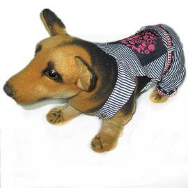 貝寵CP-072條紋吊帶寵物衣服