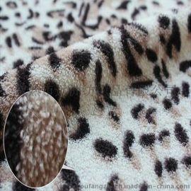 韩国豹纹印花珊瑚绒批发直销