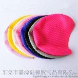 防水硅胶游泳帽 护耳颗粒硅橡胶泳帽