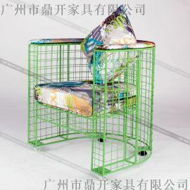 时尚网咖沙发 鸟巢铁网沙发