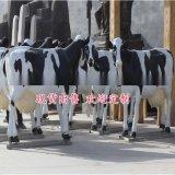 定制 现货彩绘玻璃钢奶牛雕塑 吃草牛耕地牛雕塑养殖牧业园林绿化摆件