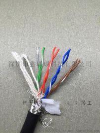 拖链电缆 TRVV 2*1特殊混合PVC护套防水耐磨耐油 机床雕刻机用