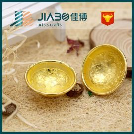 厂家定做金碗金鸡礼品 收藏礼品 金属工艺品 厂家来图来样定制