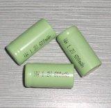 2/3AA600mAh剃须刀充电镍氢电池