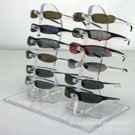 定做透明亚克力眼镜展示架眼镜陈列架展示架亚克力眼镜展示台道具