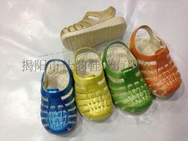 揭阳厂家供应儿童搭扣擦色单鞋