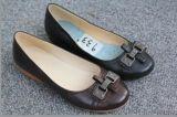 黎兰尚薇933真皮配件浅口牛筋底单鞋