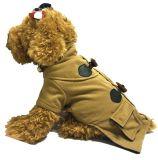 小狗衣服批發 呢子牛角扣寵物服裝 歐風美呢子大衣 大狗衣服秋冬