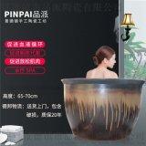 温汤洗浴水疗spa沐浴净身瓷器大缸、青瓦台流水浴缸