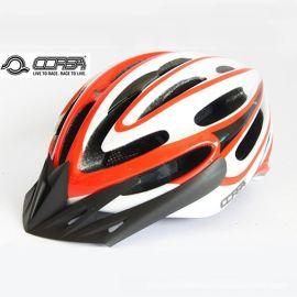 酷萨S-5公路,山地两用自行车头盔。 上,下壳一体成型技术,内置龙骨架 带彩盒