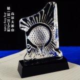 高尔夫俱乐部会员水晶纪念品  体育赛事奖杯奖牌