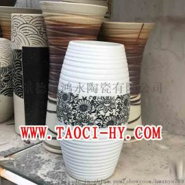 陶艺雕刻花瓶紫龙送厚礼邀席接待家居软装景观瓷