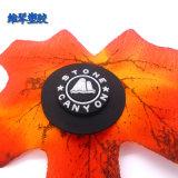圓形黑底LOGO膠章 環保PVC膠章商標