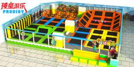 神童游乐定制蹦床主题公园 的新型游乐设备