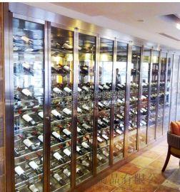 江蘇恆溫酒櫃定制,美式不鏽鋼洋酒酒櫃