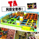 神童游乐供应儿童蹦床乐园 非常流行的商场游乐设备