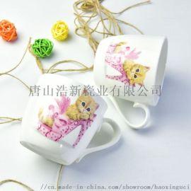 唐山浩新瓷业骨瓷陶瓷马克杯创意卡通杯定制logo