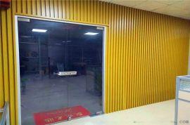 四方形型材木纹铝方管 长条格栅型材凹槽吊顶铝方管