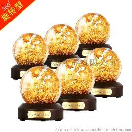 金箔水晶球代加工定制水晶金箔球源头厂家金箔风水球