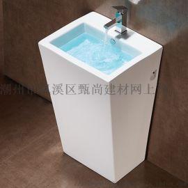 广东潮州专业陶瓷立柱盆立式柱盆洗手盆生产贴牌厂家