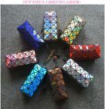 韩版菱格几何图案镭射方形化妆包热销镭射化妆包
