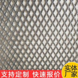成都幕墙装饰网 菱形金属细孔钢板网 喷塑菱形网 小孔菱形铝板网