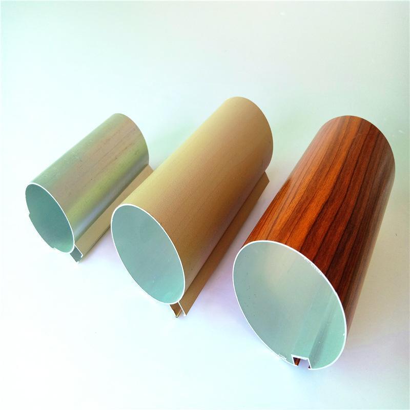 木纹铝圆管厂家直销吊顶天花铝方管规格材料定制