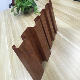 汕头门头外墙铝合金长城板 铝木纹波浪造型铝单板