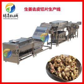 定制款薯片切条前处理设备 土豆去皮清洗切片切丝线