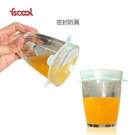 硅胶保鲜盖 透明圆形硅胶盖 硅胶保鲜膜