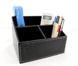 沈阳厂家批发多功能收纳盒 桌面 办公家用**杂物盒**皮革创意工具盒