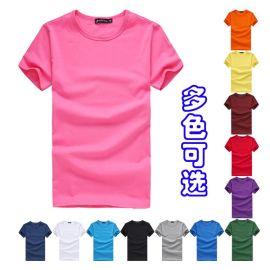 辰友服饰 工厂订制圆领加厚T恤-短袖广告促销T恤衫-可印字印logo